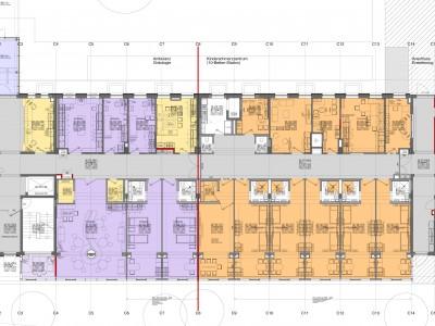 Detailplanung im Grundriss für 10 Behandlungsplätze, Quelle: Naser Architektur